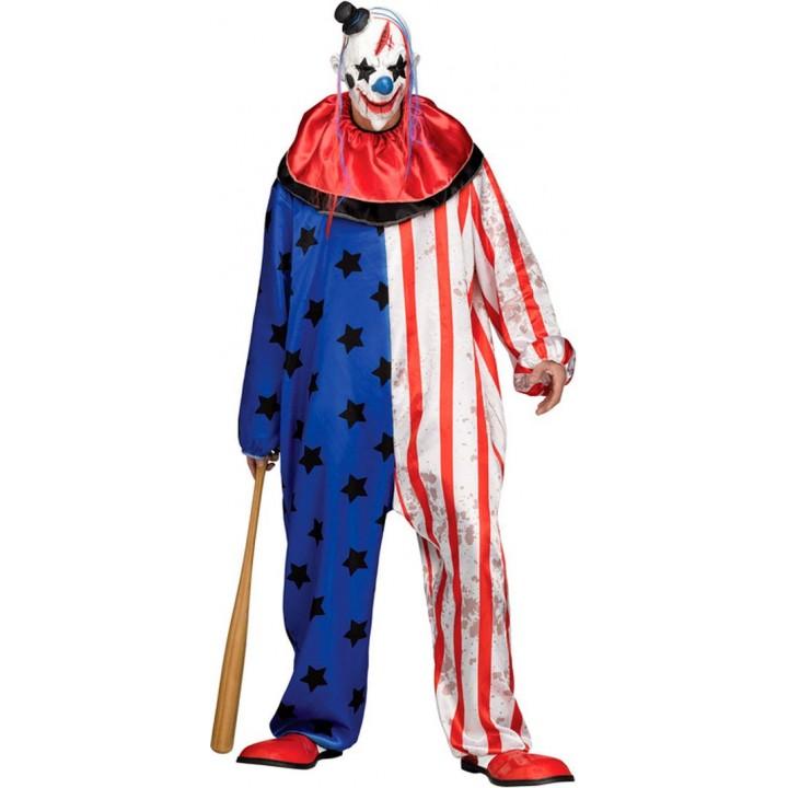 Déguisement Clown tueur Halloween taille unique