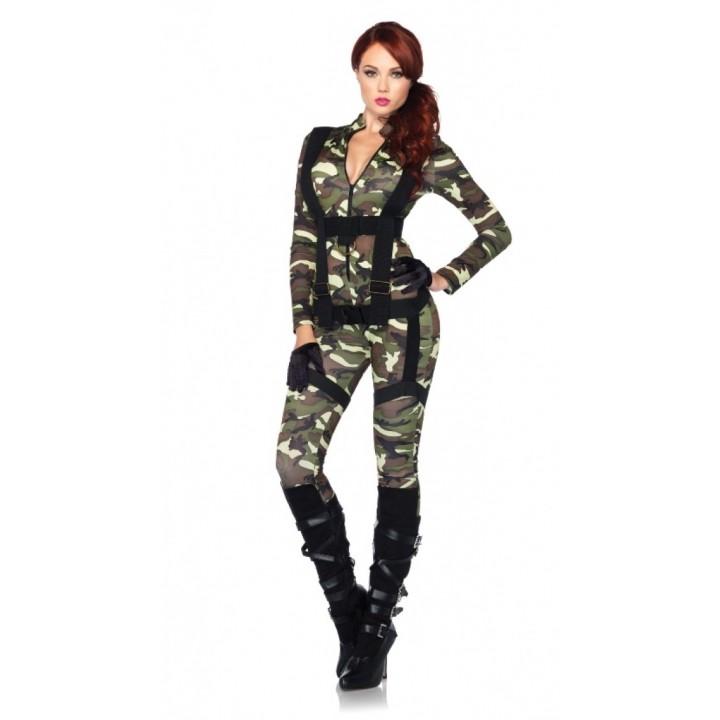 Déguisement Combinaison Militaire femme sexy