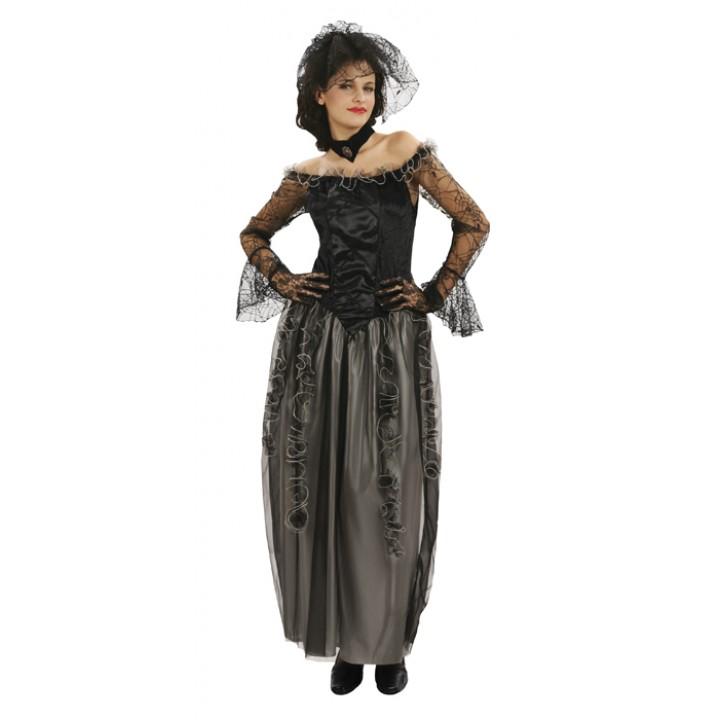 Déguisement de sorcière dentelle araignée halloween pour femme