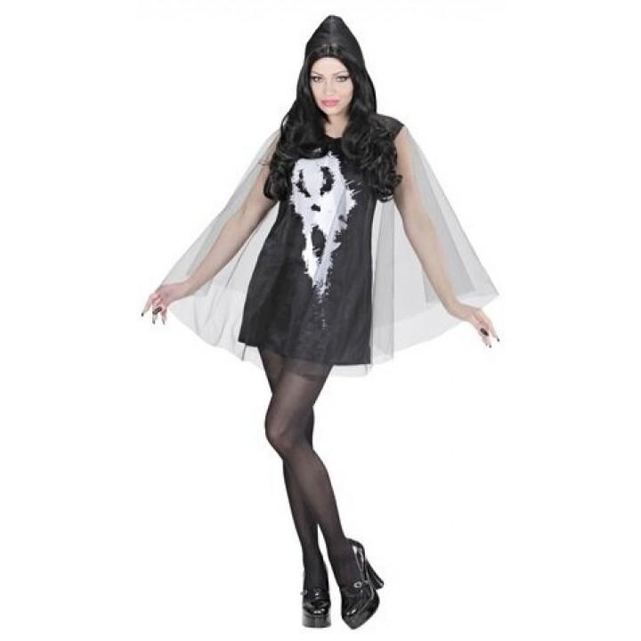 Déguisement Fantôme Scream avec poncho femme Halloween taille M