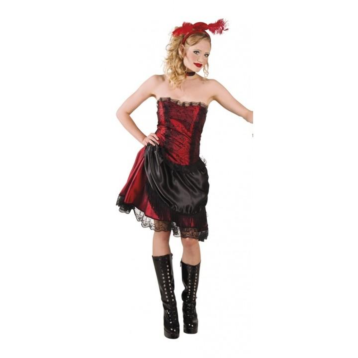 Déguisement Fille de saloon femme rouge