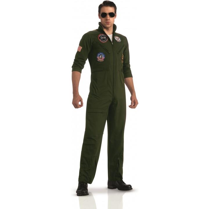 Déguisement luxe aviateur Top Gun avec lunettes adulte