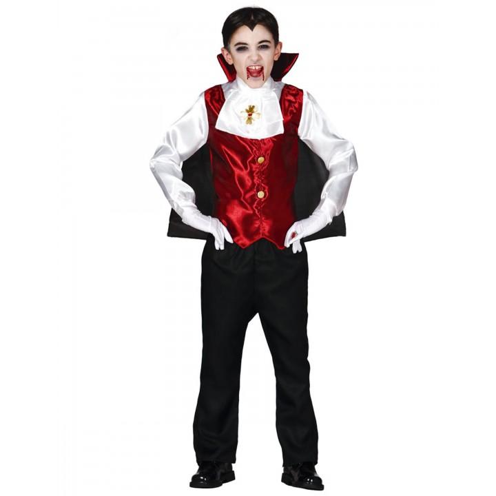 Déguisement Maître vampire halloween pour garçon taille  7/9 ans