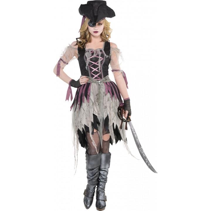 D guisement pirate fant me halloween femme - Pirate fantome ...