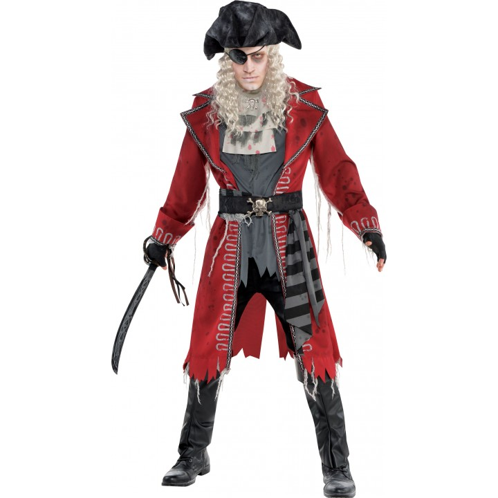 d guisement zombie capitaine pirate halloween homme. Black Bedroom Furniture Sets. Home Design Ideas