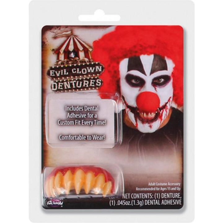 Dentier Clown tueur Halloween