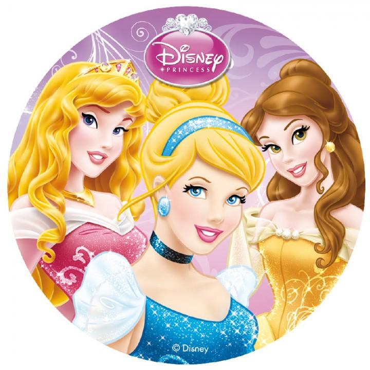 Disque  en sucre déco gâteau Princesses Disney D 16 cm 15 gr