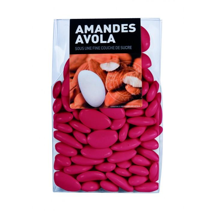 Dragées Amande Avola Framboise 45%  450 gr