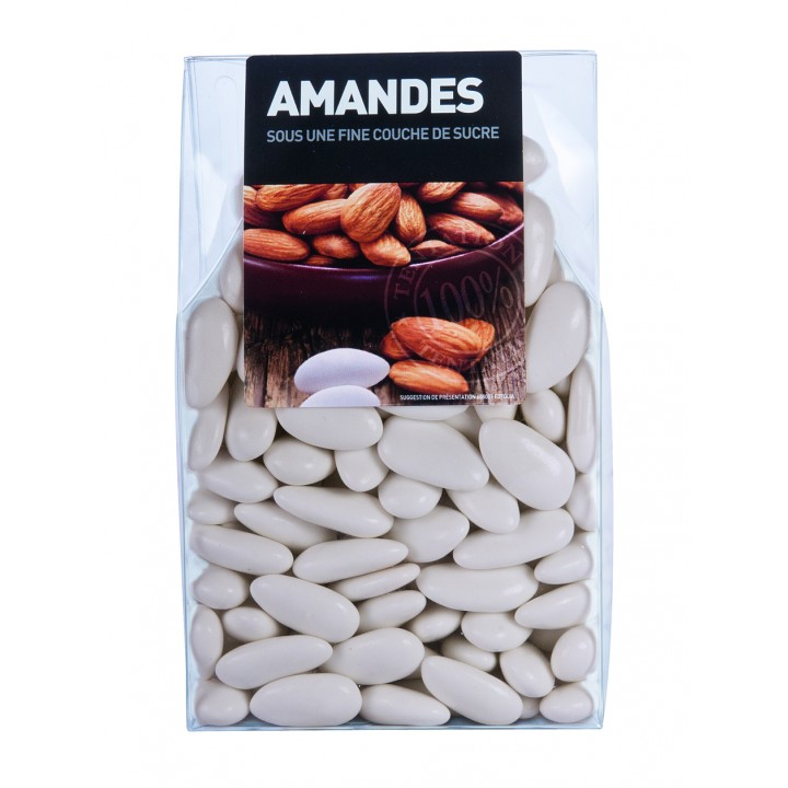 Dragées Amande Longuette Ecru  450 gr