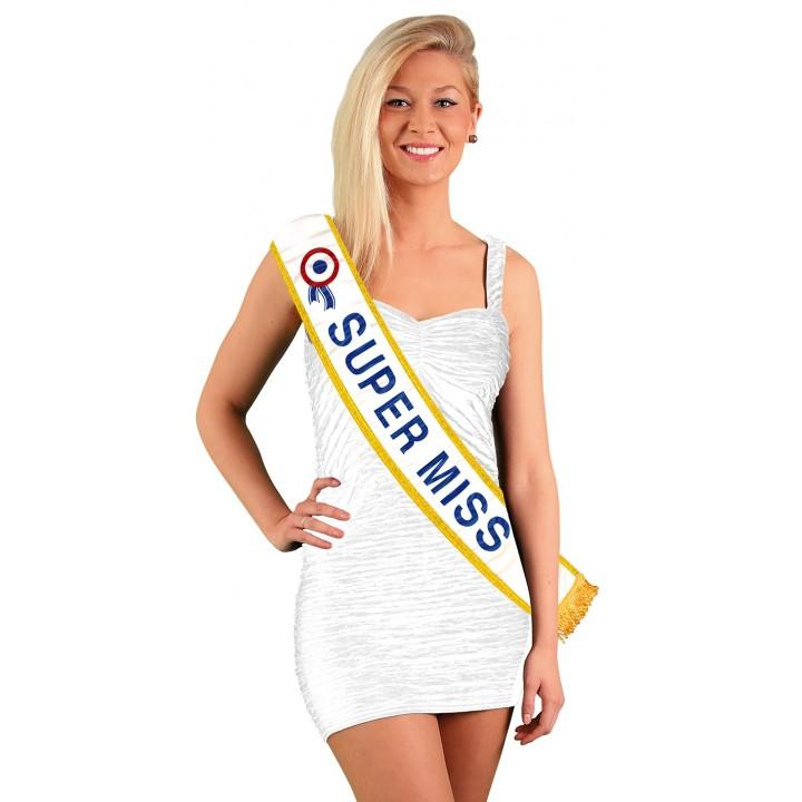 Echarpe Super Miss  Bleue