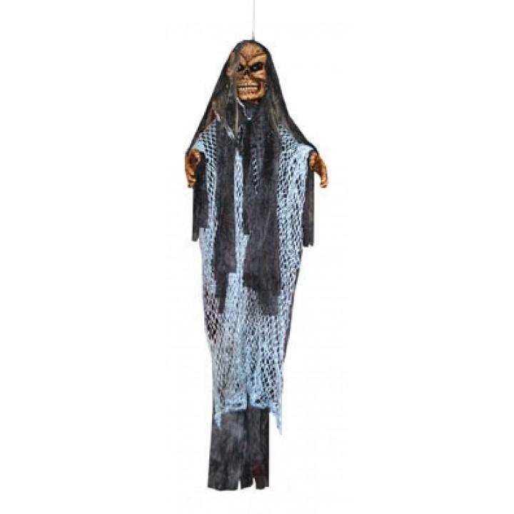 Fantôme squelette avec lumière et bruit Halloween 140 cm