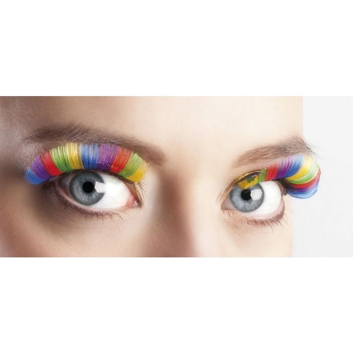 Faux-cils multicolores XL