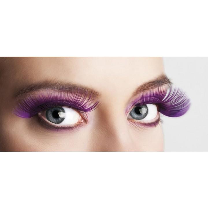 Faux-cils violets XL