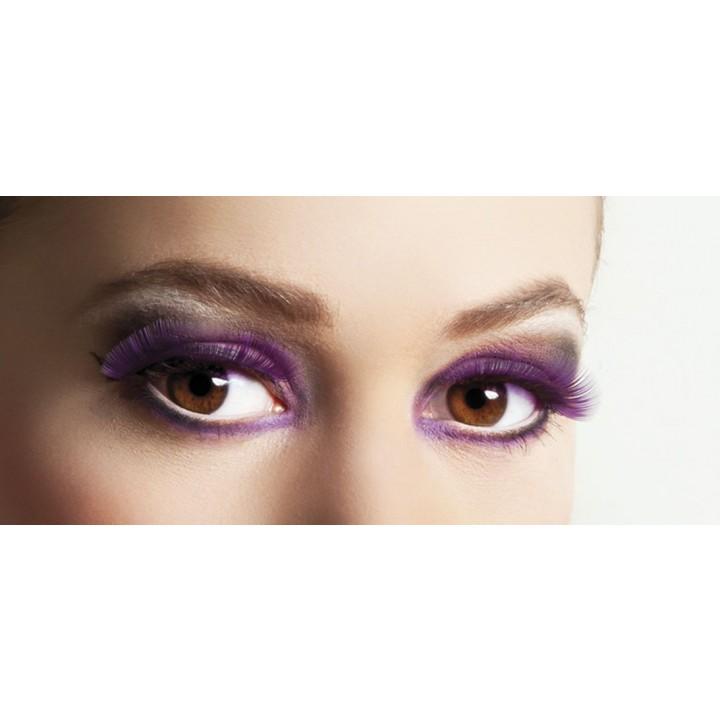 Faux-cils violets