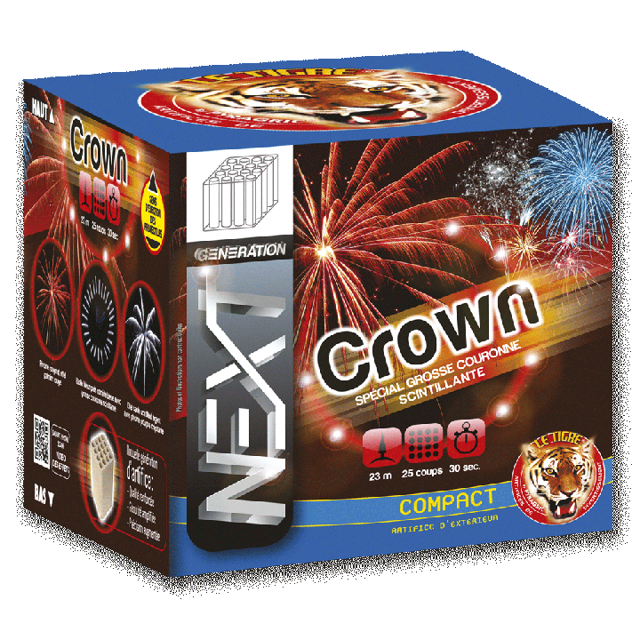 Feu d'artifice compact Crown 25 coups
