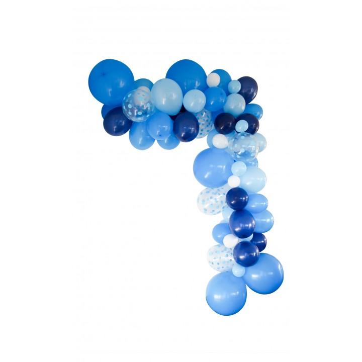 Guirlande de ballons organique 75 ballons bleue