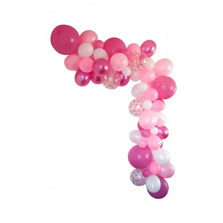 Guirlande de ballons organique 50 ballons rose
