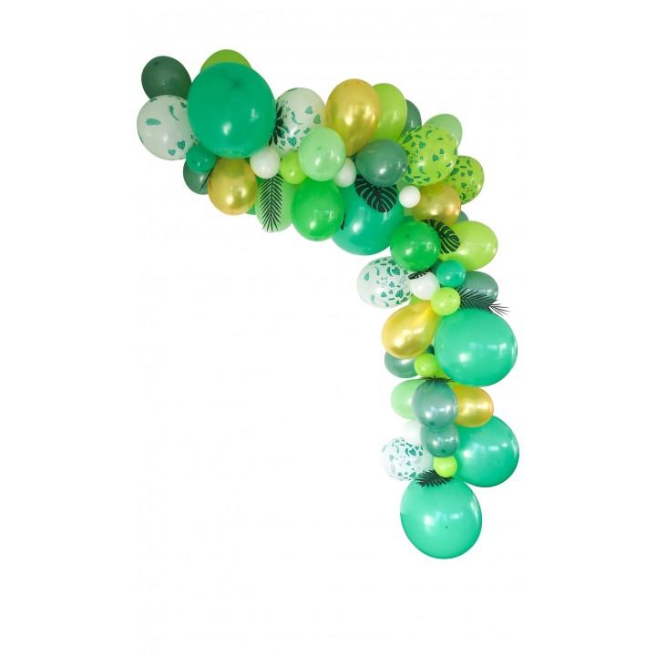 Guirlande de ballons organique 50 ballons verte