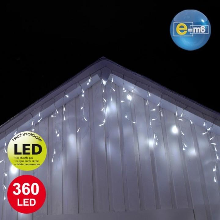 Glaçons 360 leds Blanches 8 fonctions 50 cm x 10 m