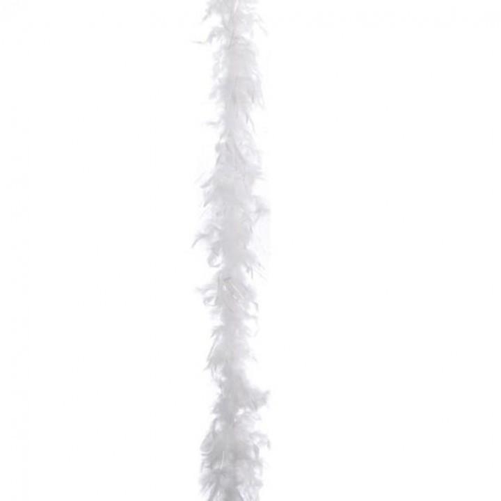 Guirlande Boa blanc déchiré 2 m