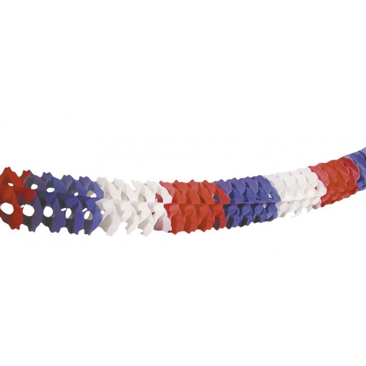 Guirlande en papier tricolore 6 m