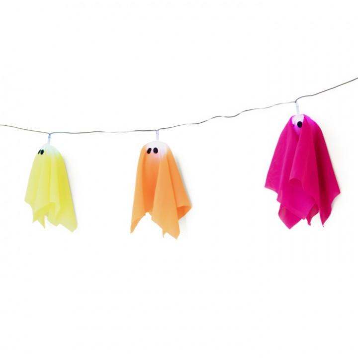Guirlande fantôme lumineux Halloween 150 cm