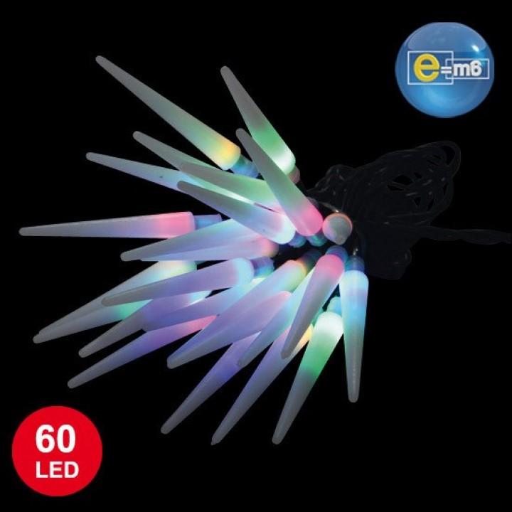 Guirlande Glaçons 60 leds  multicolores 8 fonctions 5 m