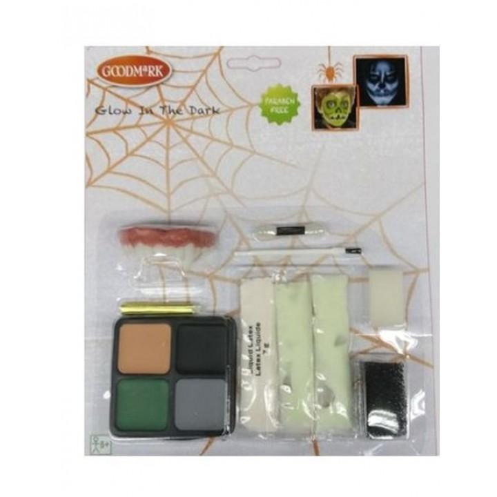 Kit maquillage phosphorescent Glow in the dark Halloween