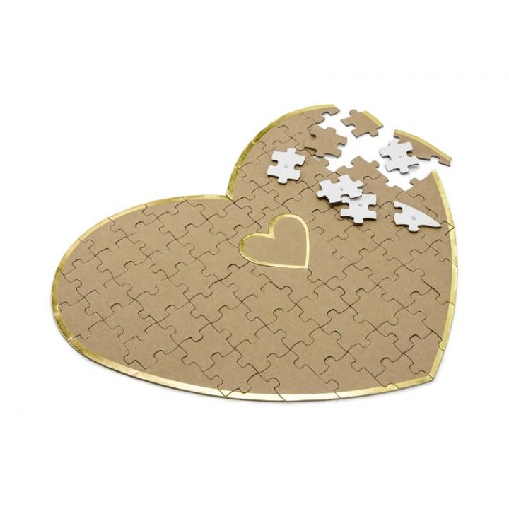 Livre d'or puzzle forme cœur 45 x 35,5 cm