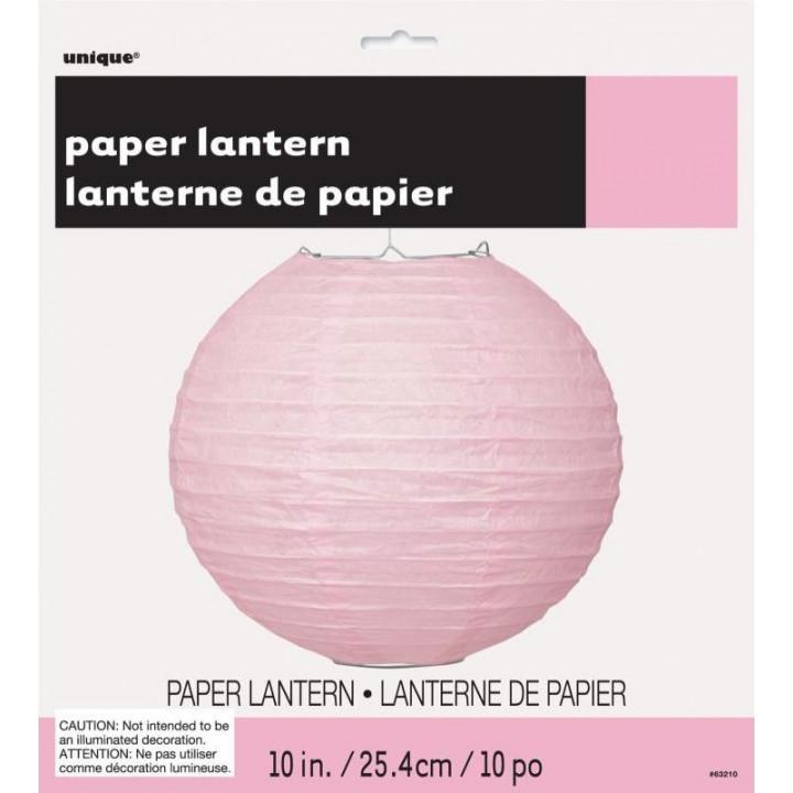 Lanterne rose dégradé en papier 25 cm