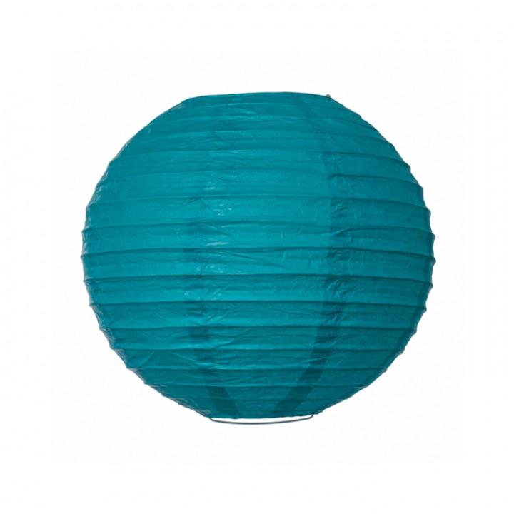 Lanterne turquoise en papier D 25 cm