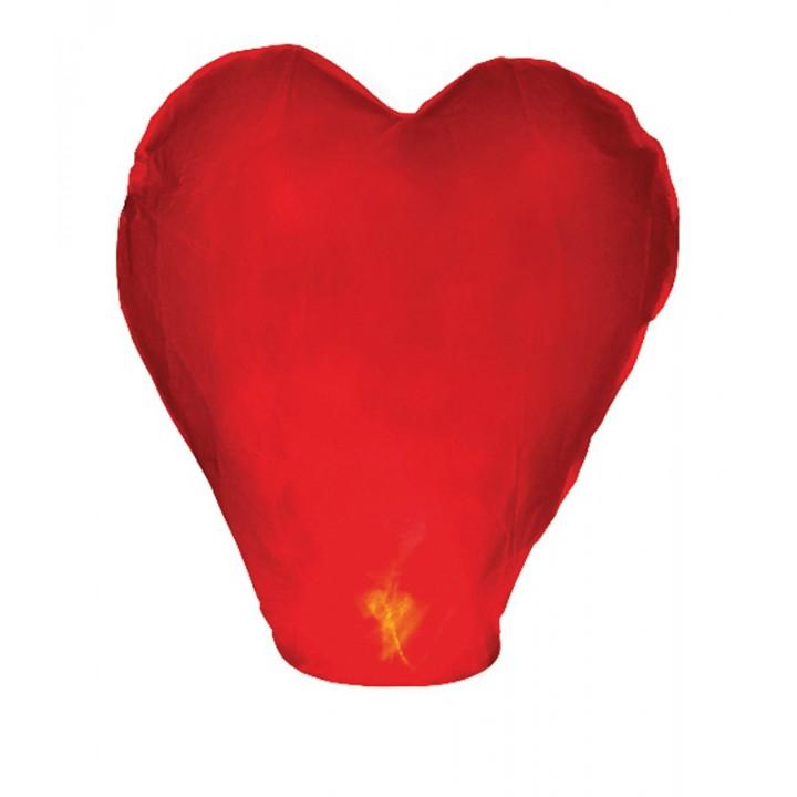 Lanterne volante cœur rouge 37 x 93 x 95 cm
