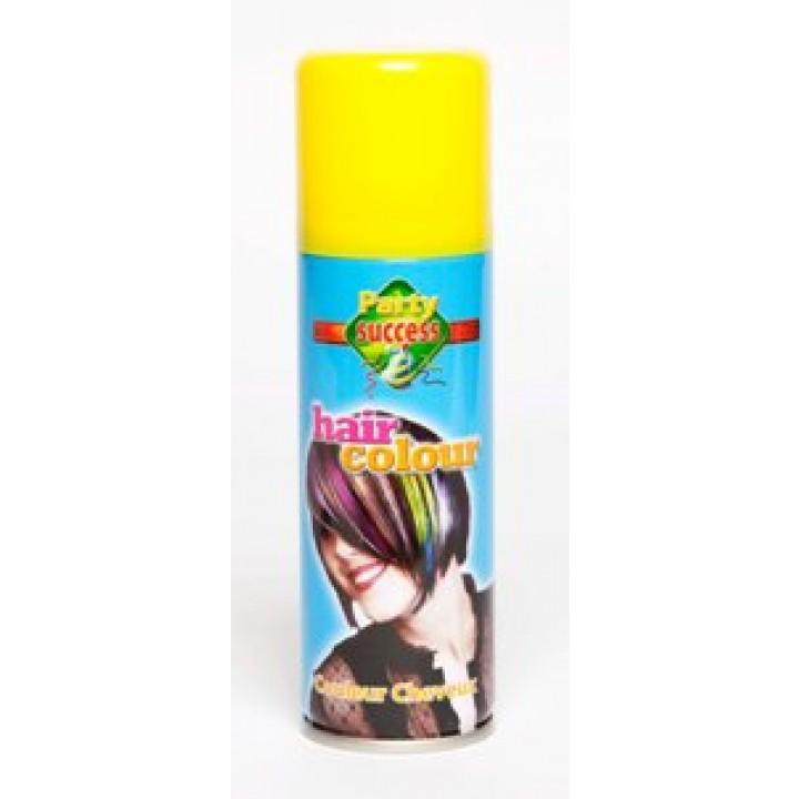 Laque cheveux jaune en spray 125 ml