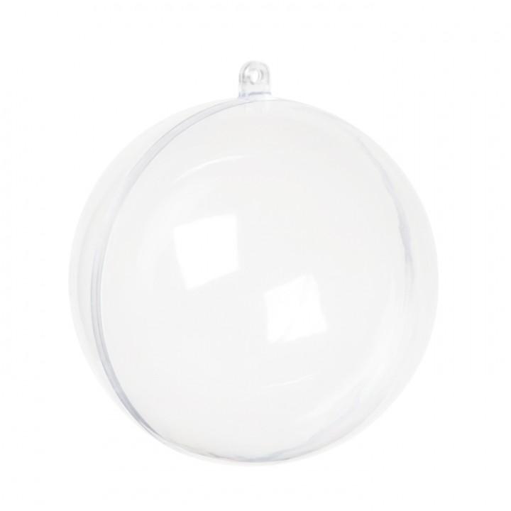 Lot de 10 Boules transparentes rondes 6 cm