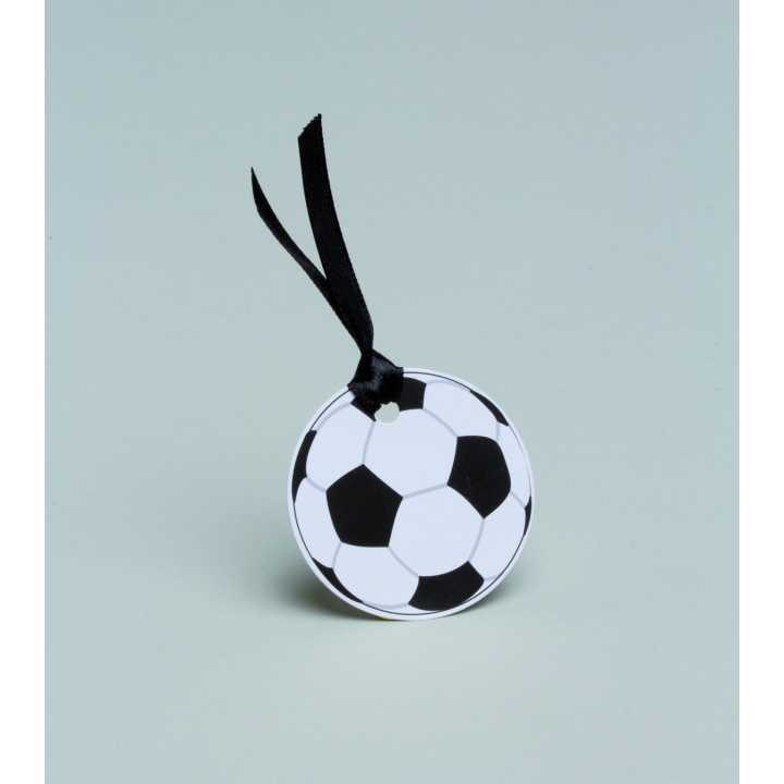 Lot de 10 étiquettes ballon de foot