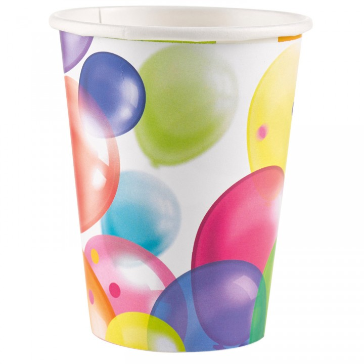 Lot de 10 gobelets Balloons Fiesta en plastique  20 cl