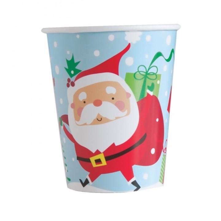 Lot de 10 gobelets carton Ceinture de Père Noël
