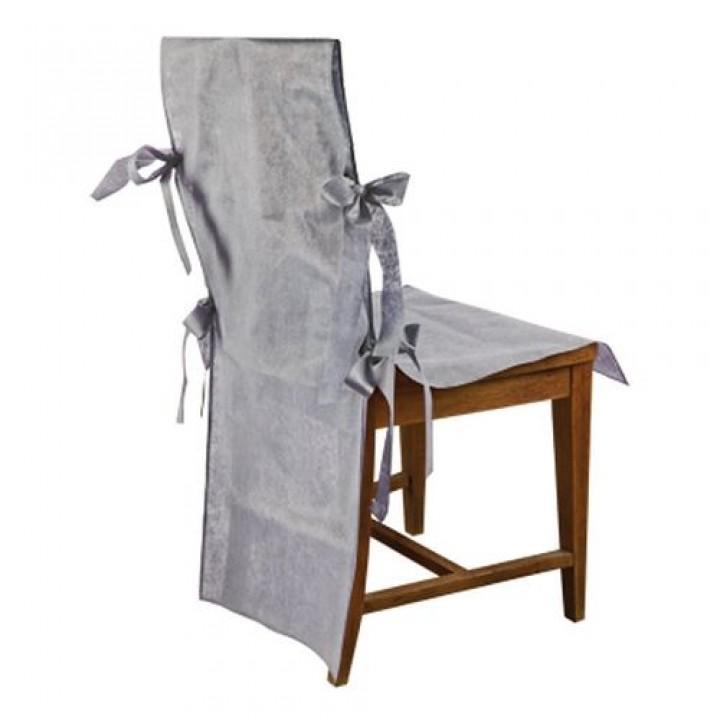 lot de 10 housses de chaise gris fonc. Black Bedroom Furniture Sets. Home Design Ideas