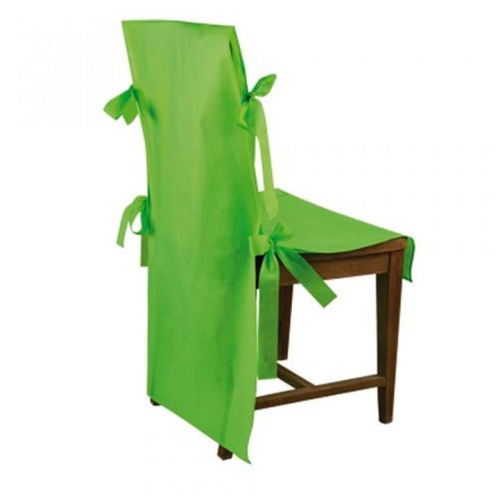 Lot de 10 housses de chaise vertes