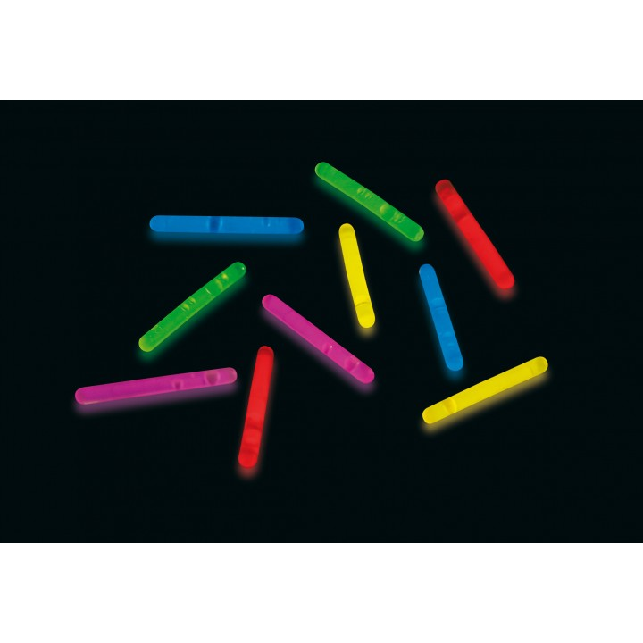 Lot de 10 Ministicks fluo mix  3,9 x 0,5 cm
