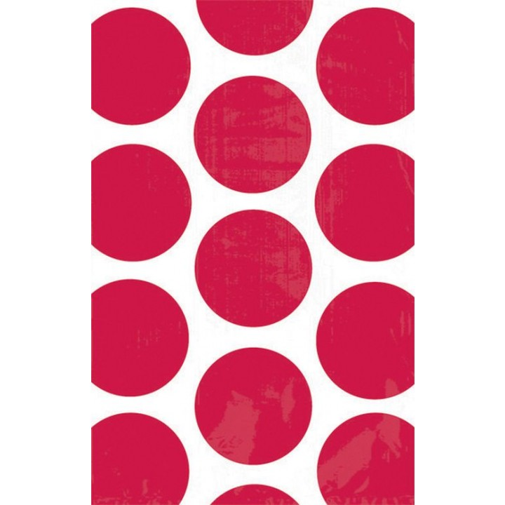 Lot de 10 sachets transparent à pois rouge