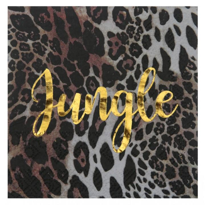 Lot de 10 serviettes jetables Jungle 33 x 33 cm