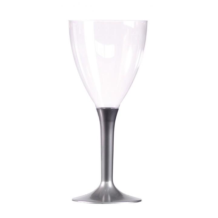 Lot de 10 verres à vin jetables en plastique ardoise