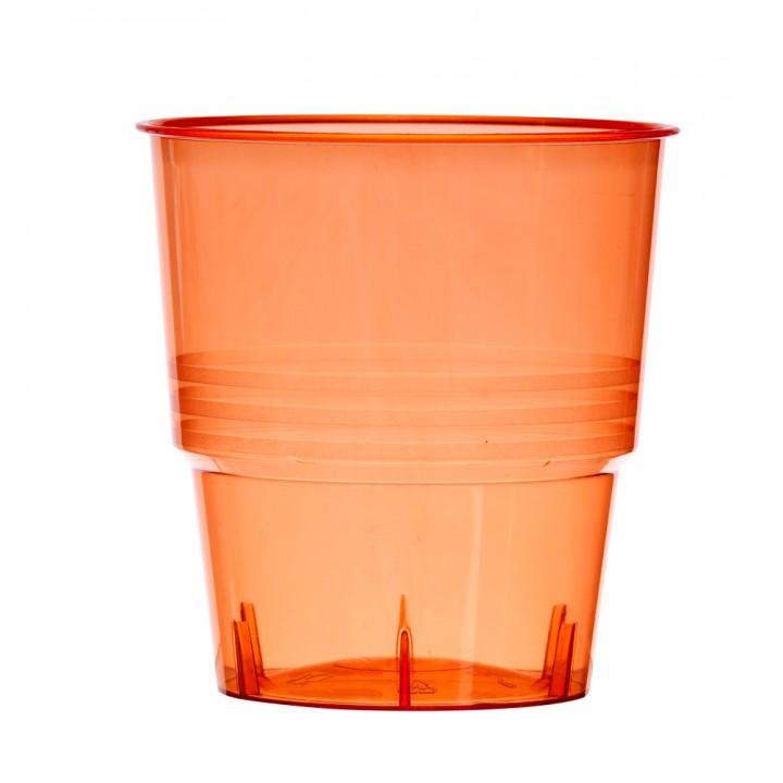 Lot de 10 verres jetables en plastique rouge transparent