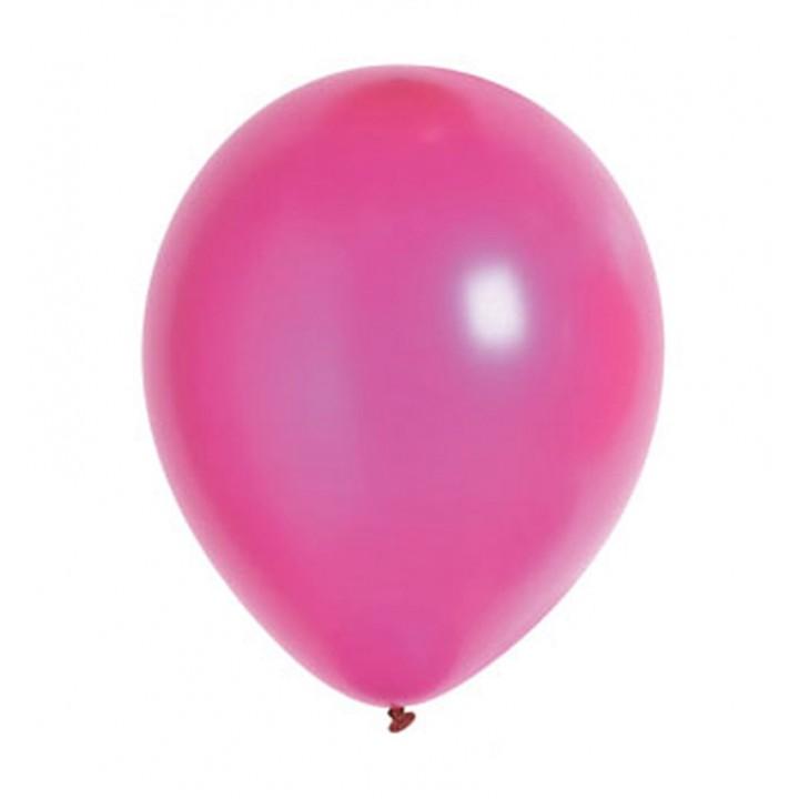 Lot de 100 ballons en latex nacré métallisé fuschia
