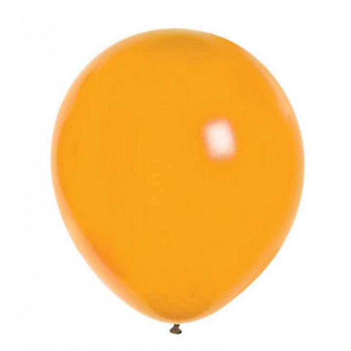Lot de 100 ballons en latex nacré métallisé mandarine