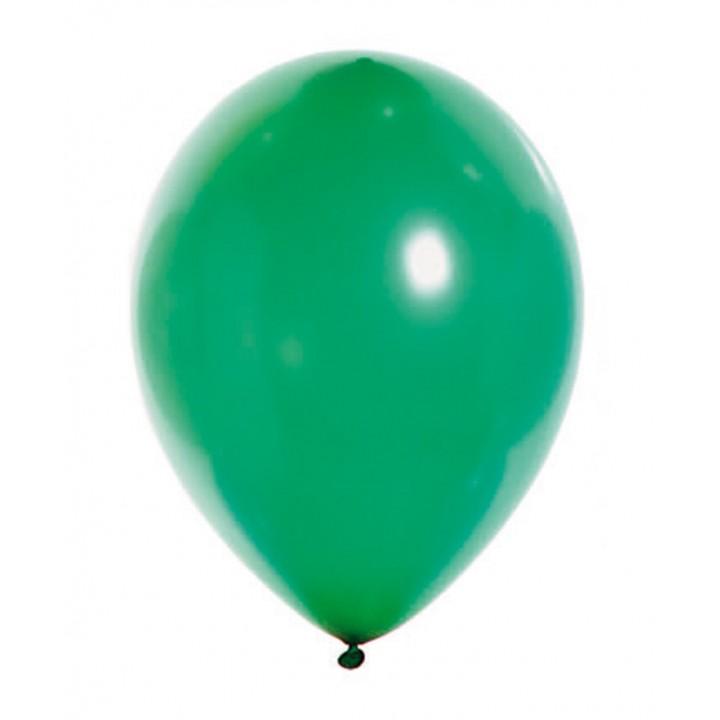 Lot de 100 ballons en latex nacré métallisé vert