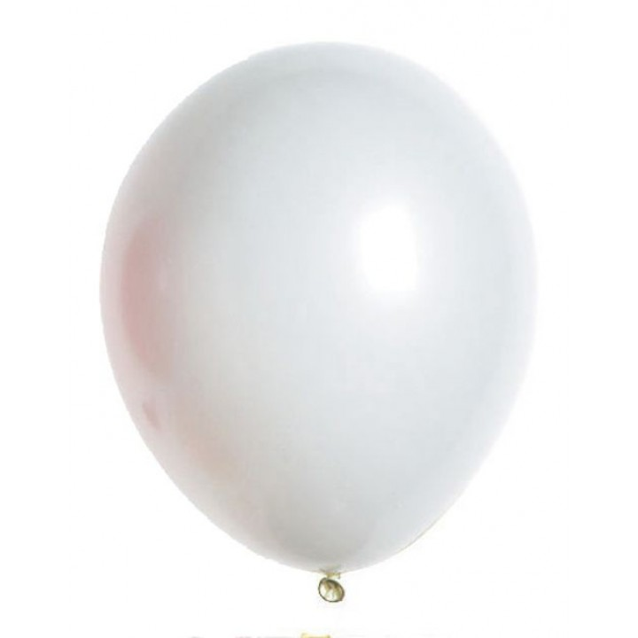 Lot de 100 ballons  en latex opaque blanc