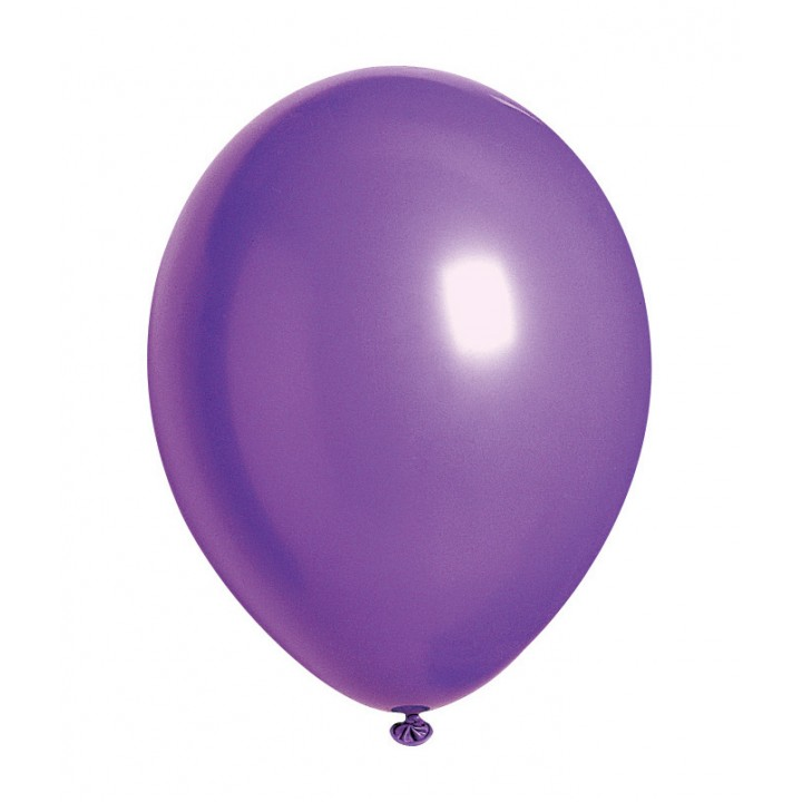 Lot de 100 ballons en latex opaque violet