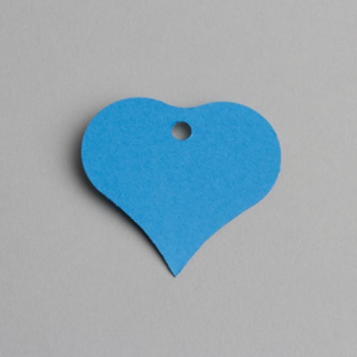 Lot de 12 étiquettes Cœur bleues